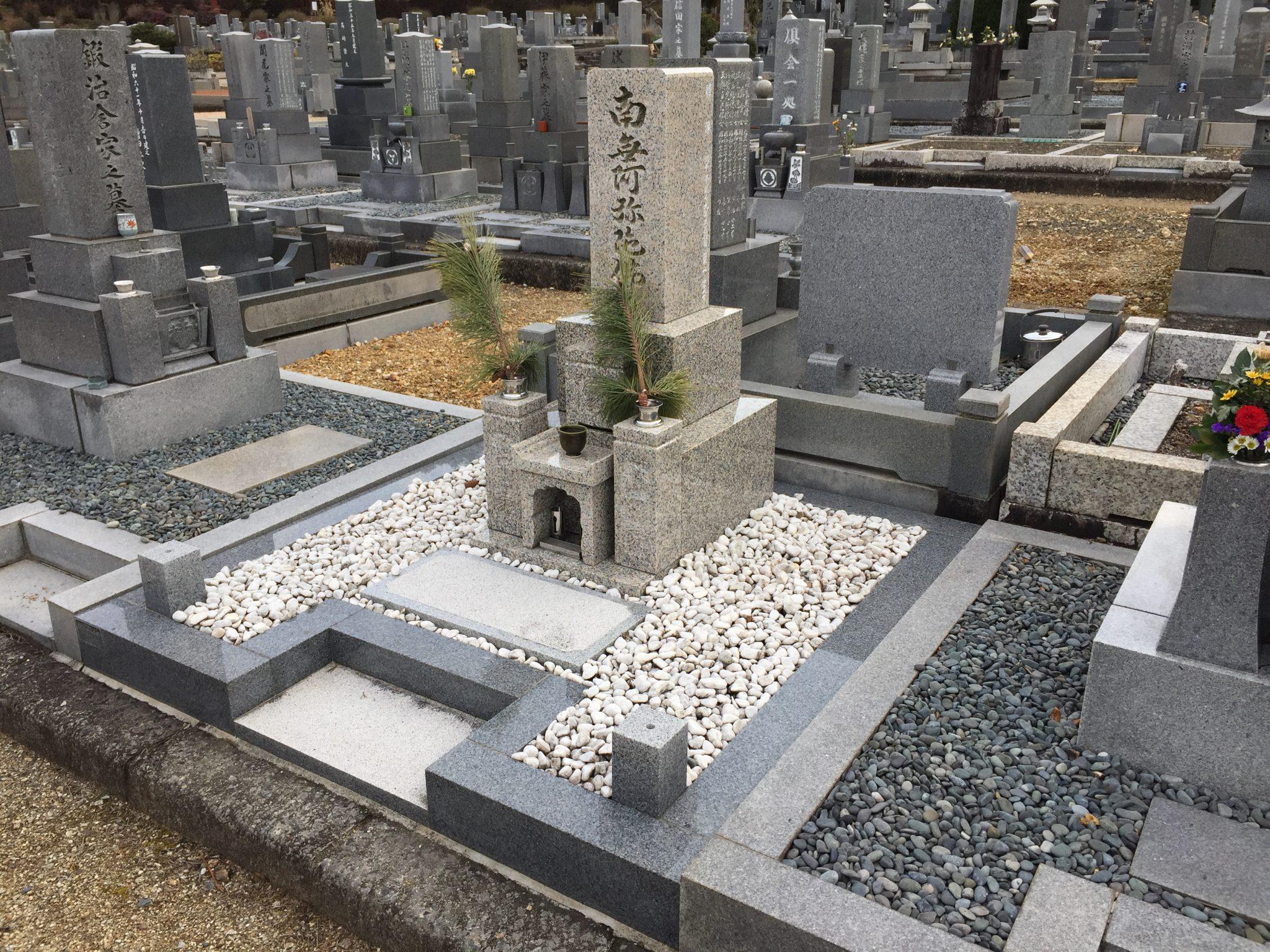 国産 岡山県産 万成石 8寸2段 飛翔型墓石