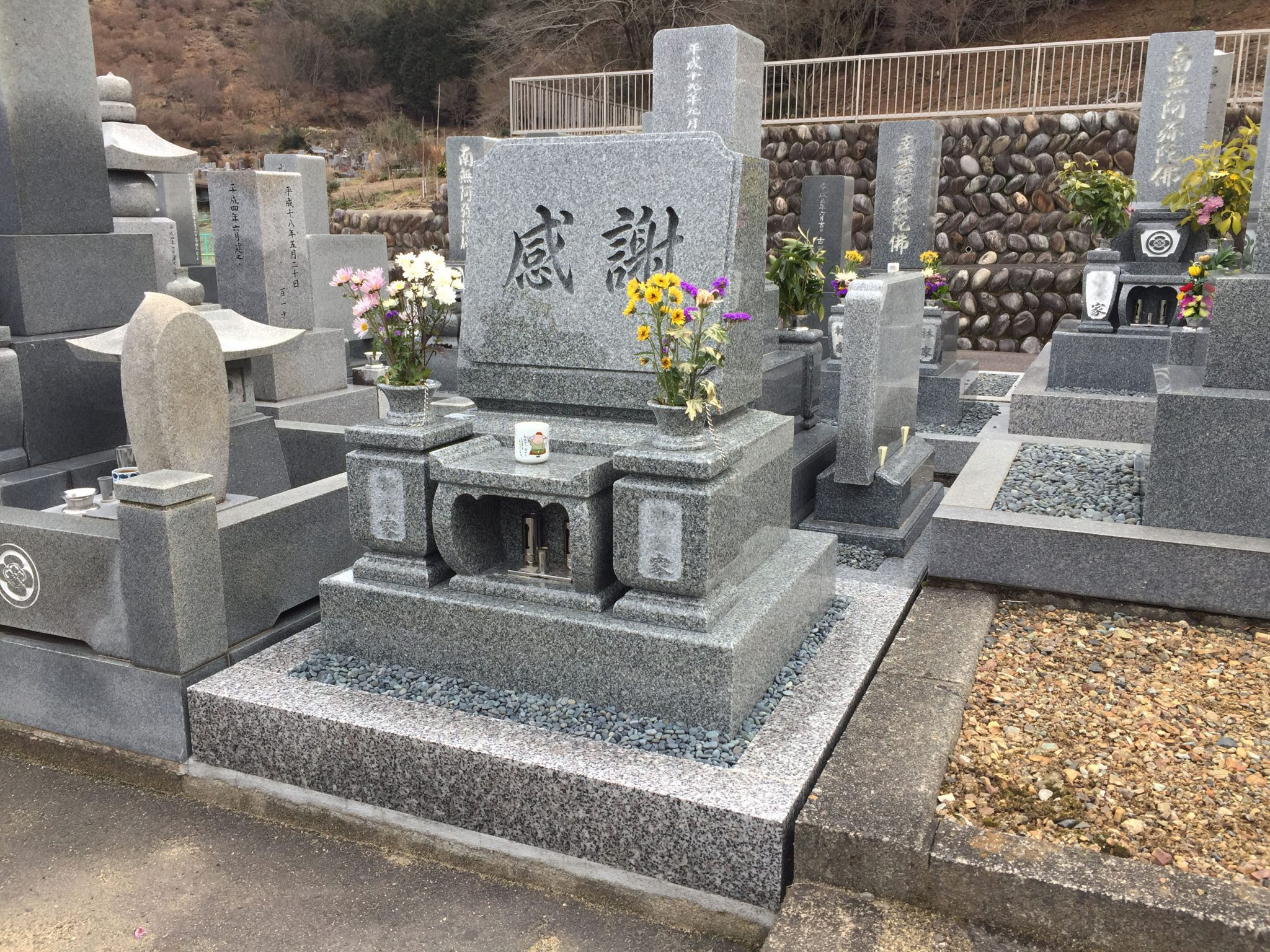 アーバングレー石 洋型墓石