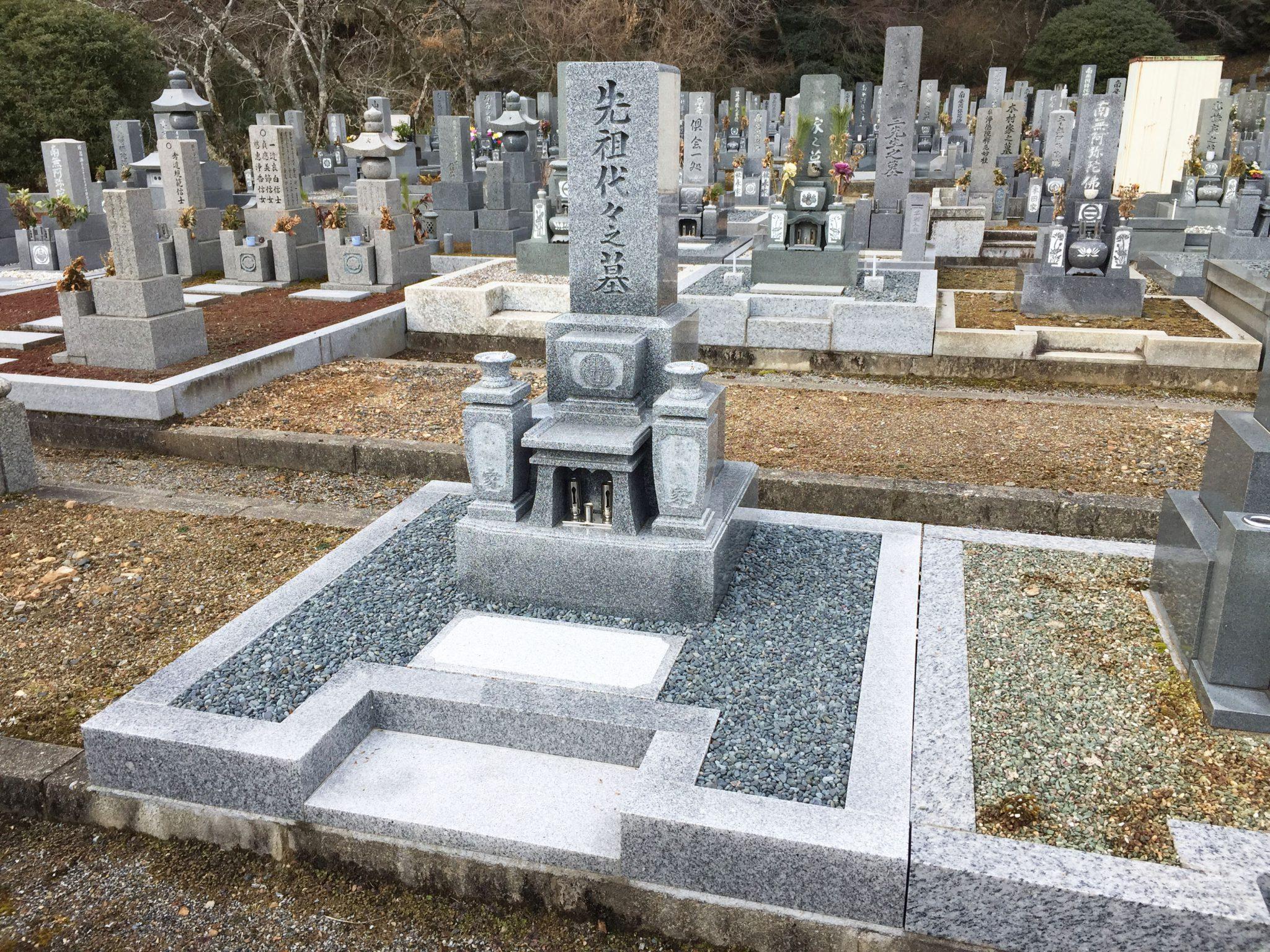 国産 愛媛県 大島石 神谷石材オリジナル墓石