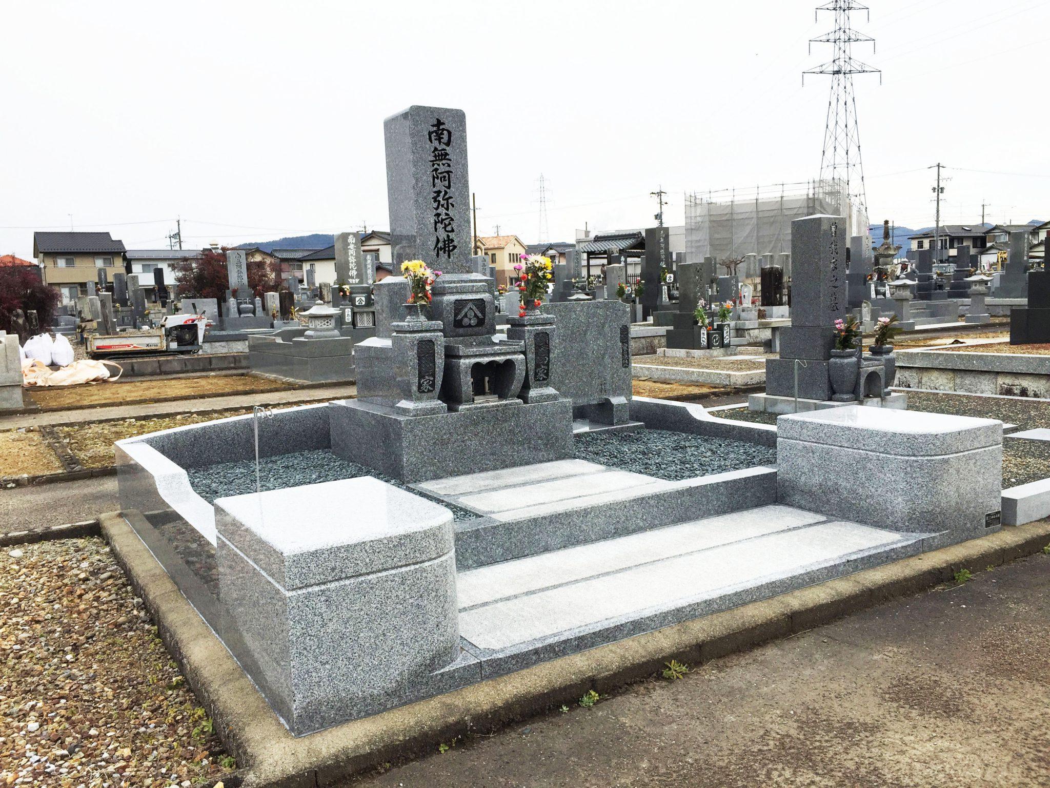 10寸3段墓石 ウルグアイ産 バイオレットブルー石