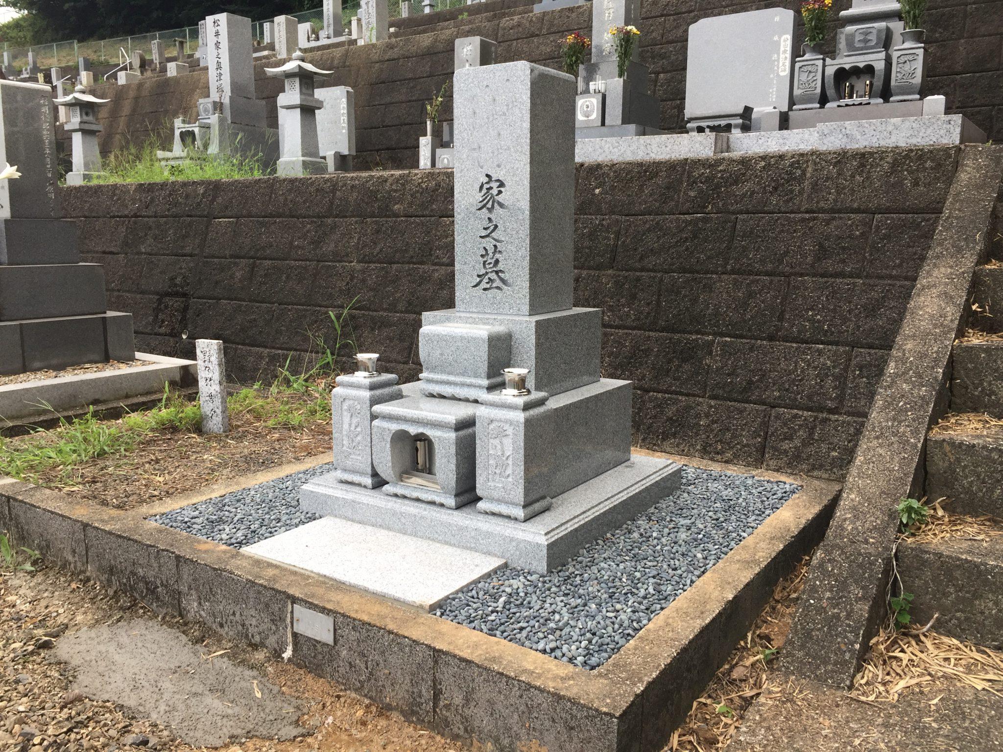 岐阜市黒野 洞霊苑で8寸2段のお墓