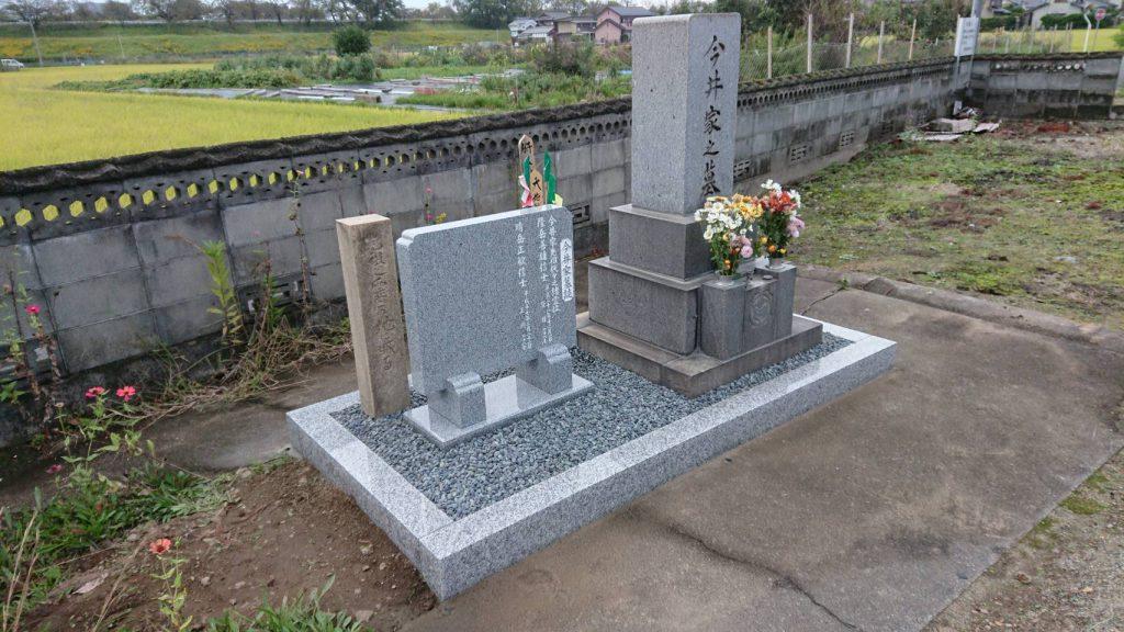 古墓石のリフォーム