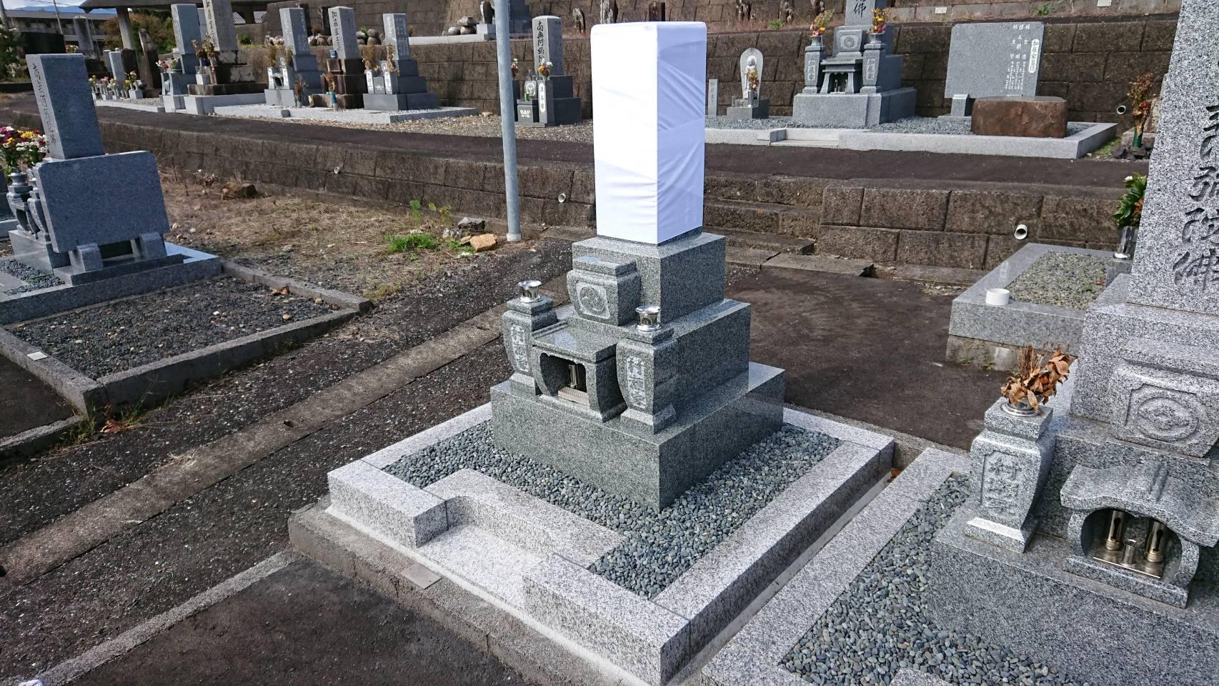 8寸3段 吉祥型墓石