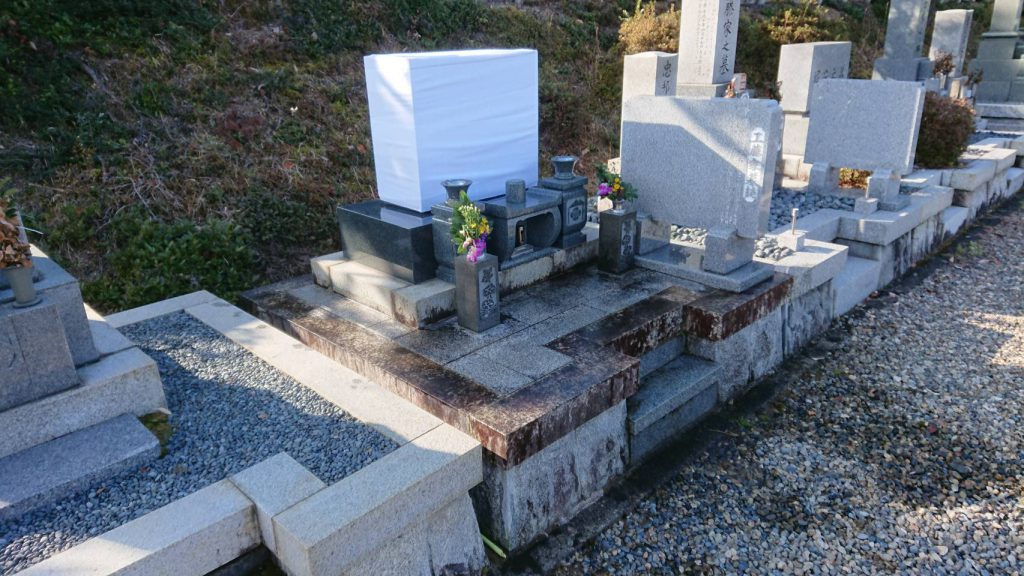 洋型墓石のリフォーム