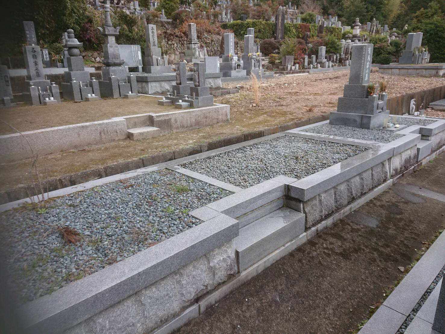 墓石解体処分後