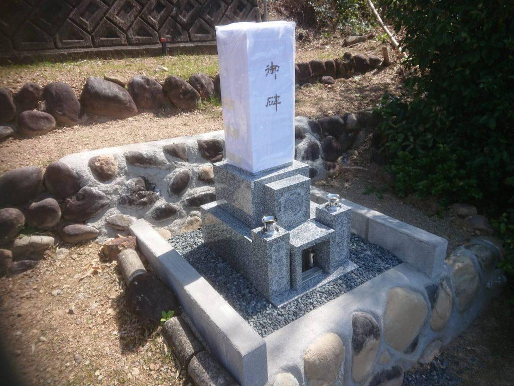 新規墓石工事完了