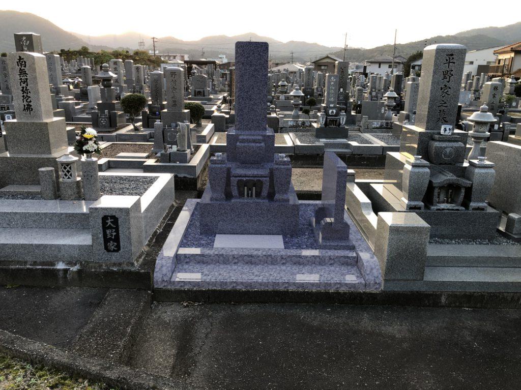 墓石CADとCG 背景合成イメージ