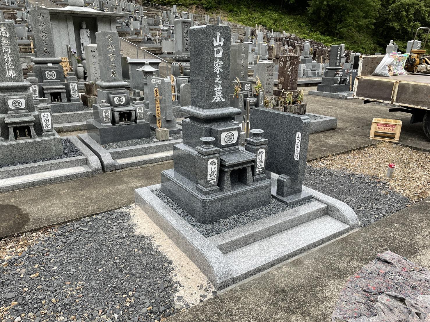 墓石工事完了