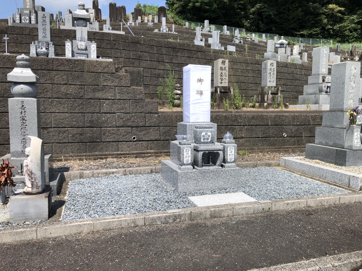 8寸3段墓石 吉祥型墓石