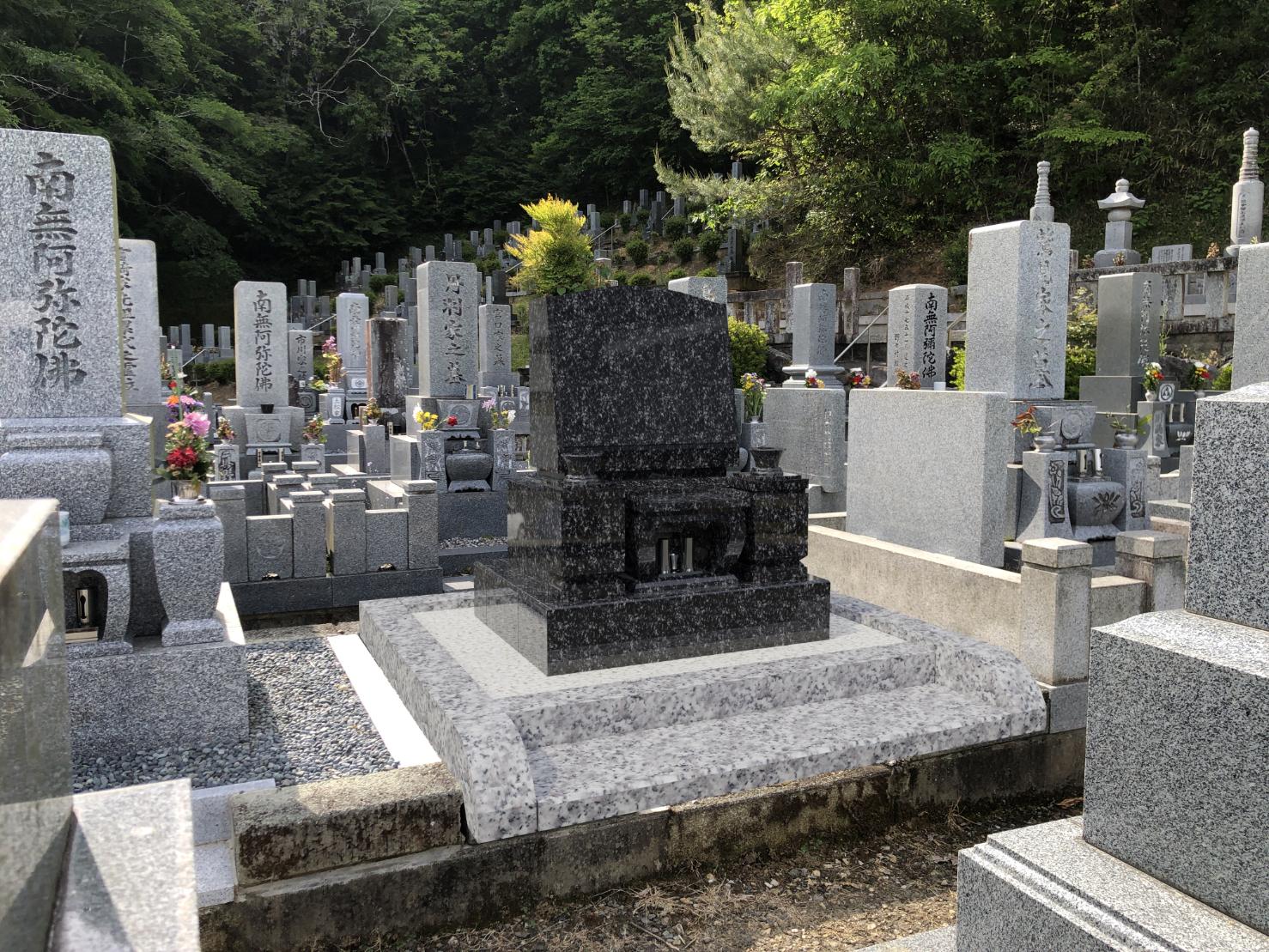 洋型墓石完成イメージ